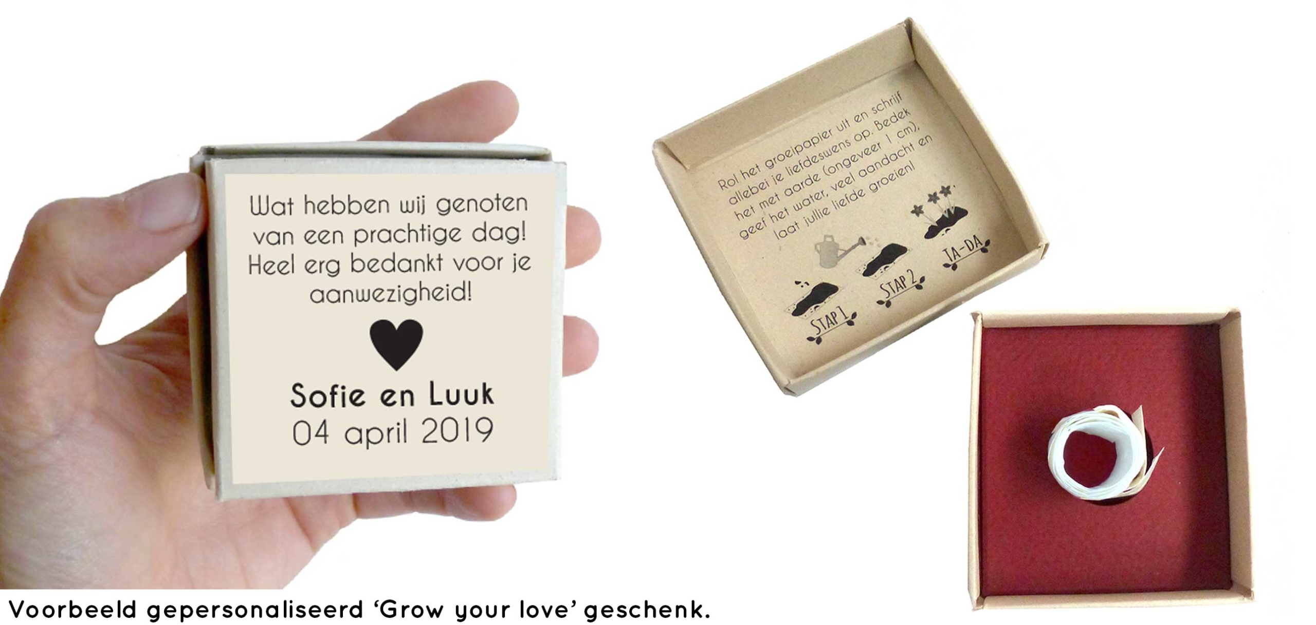 Grow your love gepersonaliseerd